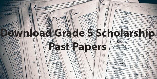 Grade 5 Scholarship Past Exam Papers